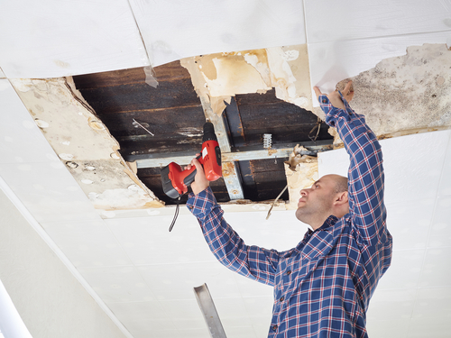 How do you dry out water damage